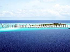 Aerial Shot of Summer Island Village Maldives. Nice Resort Hotel