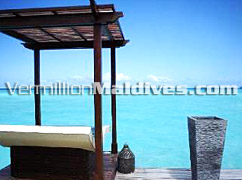 View from Sun chair in Taj Resort  Hotel of Maldives