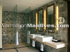 Bath Rooms - The HAVEN Hotel Maldives Upclass Deluxe holiday place