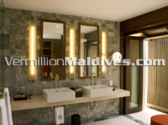 Bath Rooms of Maldives HAVEN Hotel Resort in Maldives – purely 5 Star