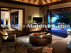 Living area of your Beach Villas in The Regent Maldives – Special resort for Honeymooners