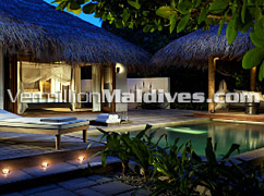 Private pool and daybeds of Regent Maldives – The Holiday Resort for you and your partner