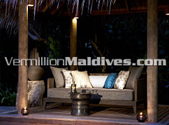 Sitting area outside your room - Regent Maldives offers class and luxury in your holiday