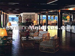 Reception area of Thundufushi Island Resort - Maldives Beach Holiday Deals at unmatched prices