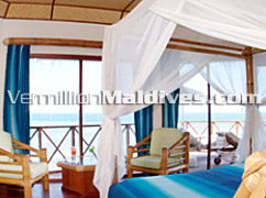 Interior of Water Bungalows in Thulhagiri Maldives - Honeymoon Resorts Hotels