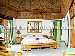 Interior of the Beach Bungalow of Thulhaagiri Maldives - Resort with Holiday packages