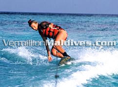 Water Skiing - Thulhaagiri Island Maldives Beach