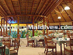 Maldives Resort Hotel Vakarufalhi main restaurant