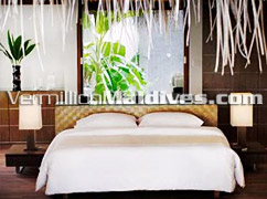 Bedroom in the new Velassaru Resort of the MALDIVES