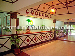 Reception of Velidhu Island Maldives Hotels – Friendly Resort Staff and Helpful as well