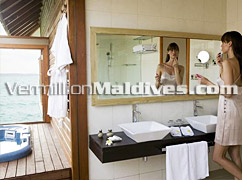 Bathroom Veligandu Island Resort Maldives