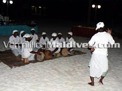 Traditional Holiday entertainments in Maldives Hotel Villivaru