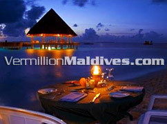 Private Dinning in candle light at Vilu Reef Maldives – Great Holiday resort