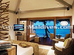 Bed Room of Lagoon Villa of the Vivanta by Taj Corel Reef – Resort Hotels Maldives