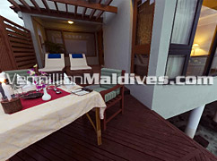 Lagoon Villa Deck of Vivanta by Taj Corel Reef - Maldives