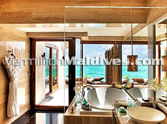 Luxury Bath Rooms in the Lagoon Villa – Vivanta by Taj Corel Resort Maldives