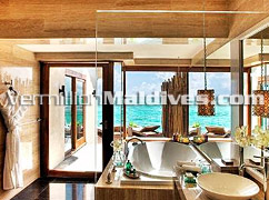 Luxury Bath Rooms of the Lagoon Villa – book Vivanta by Taj Corel for your beach Holiday