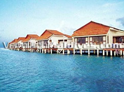 Out Door Deck of Water Rooms at Vivanta by Taj Corel Reef – Maldives