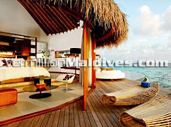 Your day beds in villa - be treated like Royalty in W Retreat Maldives Resort